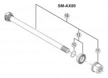 Shimano - Saint FH-M810/815 Rear Hub Axle