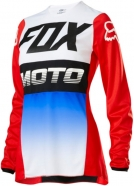 FOX - Womens 180 Fyce Blue Red Jersey