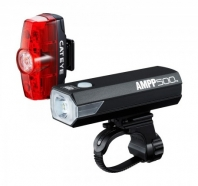 Cateye - Set of front/rear lights AMPP 500 HL-EL085RC + TL-LD635 Rapid Min