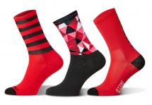Accent - Red Long Socks Set