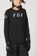 FOX - Youth Defend Long Sleeve Jersey Black