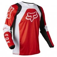 FOX Youth 180 Lux Fluorescent Red Jersey