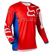 FOX 180 Skew White/Red/Blue Jersey