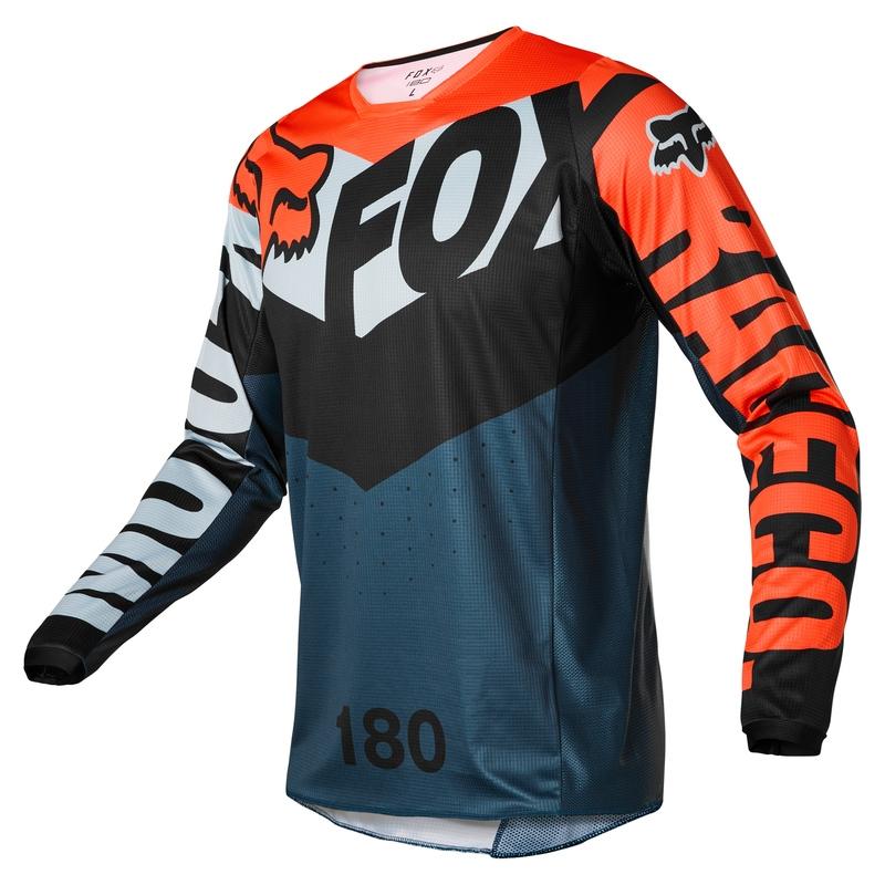 FOX 180 Trice Grey/Orange Jersey