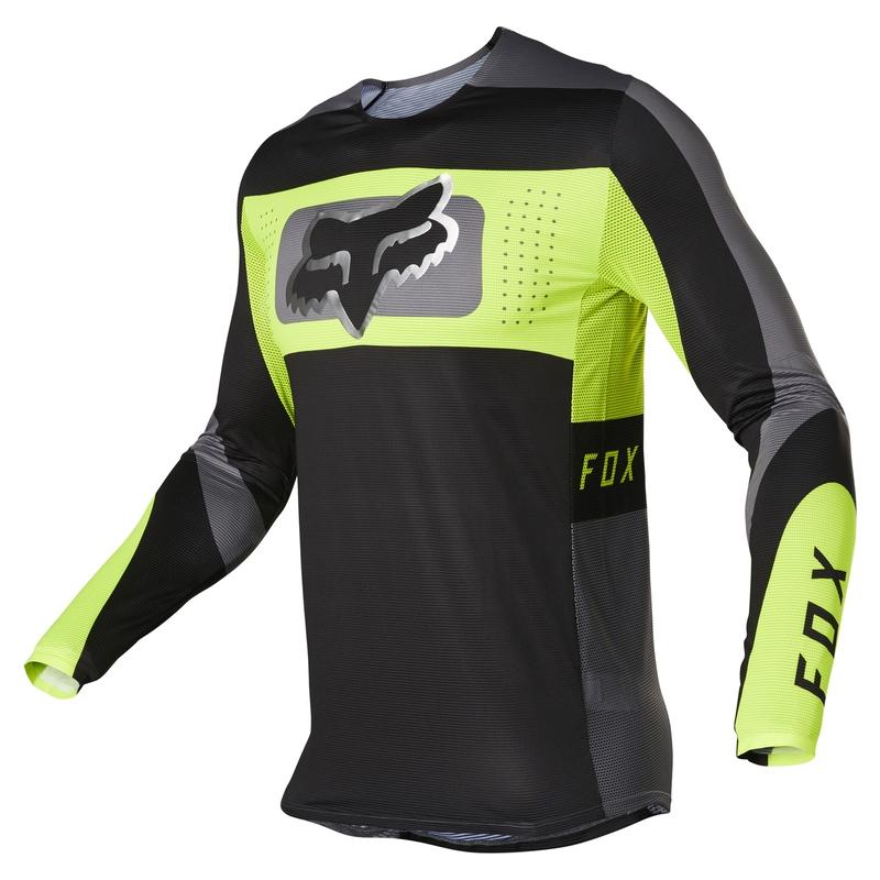 FOX Flexair Mirer Black/Yellow Jersey
