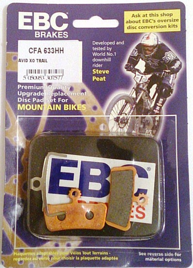 Sram Guide Avid X0 Trail gold EBC Brakes EBC disc pads