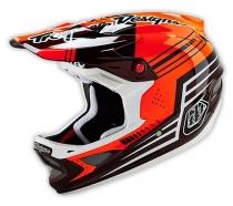 Troy Lee Designs - D3 Berzerk Carbon Red Helmet