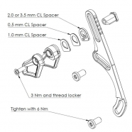 AbsoluteBlack OVAL Guide™ ISCG05-BSA Chain Guide
