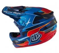 Troy Lee Designs D3 Render Navy CF MIPS Helmet