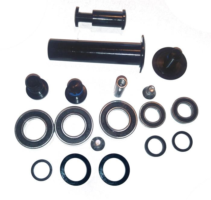 Dartmoor Set of axles, bolts and bearings for Blackbird and Bluebird